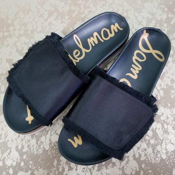 96af5788ea343b SAM EDELMAN Mares Sport Sandals Slides Black - 8M.  M 5b104f633316274acf10b925
